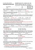 Đề thi học kì 1 môn Sinh học 12 năm 2017-2018 có đáp án - Trường THPT Lương Ngọc Quyến - Mã đề 001