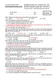 Đề thi học kì 1 môn Sinh học 12 năm 2017-2018 có đáp án - Trường THPT Lương Ngọc Quyến - Mã đề 005