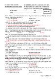 Đề thi học kì 1 môn Sinh học 12 năm 2017-2018 có đáp án - Trường THPT Lương Ngọc Quyến - Mã đề 004