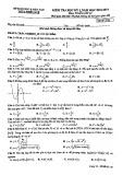 Đề thi học kì 1 môn Toán 12 năm 2018-2019 có đáp án - Sở GD&ĐT Thừa Thiên Huế - Mã đề 132