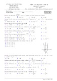 Đề thi học kì 1 môn Toán 12 năm 2018-2019 có đáp án - Sở GD&ĐT Bình Thuận - Mã đề 565