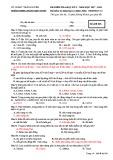 Đề thi học kì 1 môn Sinh học 12 năm 2017-2018 có đáp án - Trường THPT Lương Ngọc Quyến - Mã đề 008