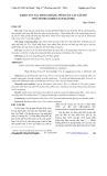 Khảo sát tác dụng kháng viêm của cây lấu đỏ (psychotria rubra (lour.) poir.)