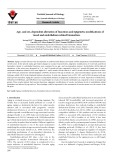 Age- and sex-dependent alteration of functions and epigenetic modifications of vessel and endothelium related biomarkers