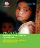 Tóm tắt báo cáo: Phân tích tình hình trẻ em và phụ nữ tỉnh Kon Tum