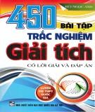 Ebook 450 bài tập trắc nghiệm giải tích: Phần 1