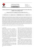 Medium optimization for the production of exopolysaccharide by Bacillus subtilis using synthetic sources and agro wastes