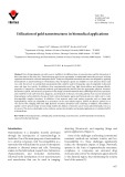 Utilization of gold nanostructures in biomedical applications