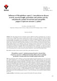 Influence of Phytophthora capsici L. inoculation on disease severity, necrosis length, peroxidase and catalase activity, and phenolic content of resistant and susceptible pepper (Capsicum annuum L.) plants