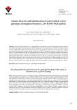 Genetic diversity and identification of some Turkish cotton genotypes (Gossypium hirsutum L.) by RAPD-PCR analysis