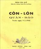 Quần đảo Côn Lôn trước ngày 9-3-1945: Phần 1