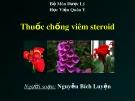 Bài giảng bộ môn Dược lý: Thuốc chống viêm steroid