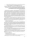 Đa dạng sinh học và đặc điểm phân bố của cá (trừ bộ cá chép, bộ cá vược) lưu vực sông Hậu, tỉnh Cần Thơ