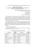 Mối quan hệ di truyền của Sâm ngọc linh (panax vietnamensis ha et grushv., 1985) với các loài trong chi panax