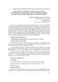 Một số kết quả nghiên cứu khả năng nảy mầm và sinh trưởng cây đậu lào (mucuna interrupta gagnep.) tại Khu bảo tồn thiên nhiên Hòn Bà, tỉnh Khánh Hòa