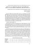 Điều tra và xác định hàm lượng hoạt chất tribulosin trong cây tật lê (tribulus terrestris l.) phân bố ở Việt Nam