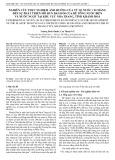 Nghiên cứu thực nghiệm ảnh hưởng của tỷ lệ nước/xi măng đến sự phát triển mô đun đàn hồi của bê tông nước biển và nước ngọt tại khu vực Nha Trang, tỉnh Khánh Hoà