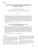 Food restriction affects locomotor activity in Mongolian gerbils (meriones unguiculatus)