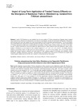 Impact of long term application of treated tannery effluents on the emergence of resistance traits in Rhizobium sp. isolated from Trifolium alexandrinum