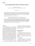 In vitro antifungal activity of strains of Trichoderma harzianum