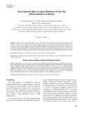 Use of gamma rays to induce mutations in four pea (Pisum sativum L.) cultivars
