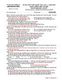 Đề thi thử THPT Quốc gia môn Lịch sử năm 2019 lần 1 - Sở GD&ĐT Nghệ An - Mã đề 303