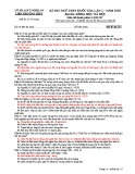 Đề thi thử THPT Quốc gia môn Lịch sử năm 2019 lần 1 - Sở GD&ĐT Nghệ An - Mã đề 317