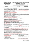 Đề thi thử THPT Quốc gia môn Lịch sử năm 2019 lần 1 - Sở GD&ĐT Nghệ An - Mã đề 314