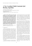 A new localized multi-constraint QoS routing algorithm