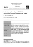 Retailer's perception of impact of ASEAN Economic Community on the growth of Vietnam retail market: A cognitive approach
