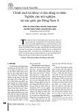 Chính sách tài khóa và tiêu dùng tư nhân: Nghiên cứu trải nghiệm tại các quốc gia Đông Nam Á