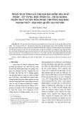 Phân tích tính giá trị hai bài kiểm tra ngữ pháp – từ vựng học phần 2A + 2B tại Khoa Ngôn ngữ và Văn hóa Pháp, Trường Đại học Ngoại ngữ, Đại học Quốc gia Hà Nội