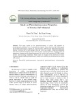 Study on photoluminescence properties of porous gap material