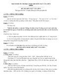 Một số đề ôn thi học sinh giỏi môn Ngữ văn lớp 8