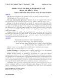 Đánh giá ban đầu hiệu quả của sufentanil trong gây mê cân bằng - Tạp chí y học