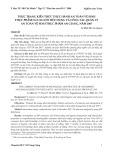 Thực trạng kiến thức thực hành an toàn vệ sinh thực phẩm của người tiêu dùng và công tác quản lý an toàn vệ sinh thực phẩm An Giang, năm 2007