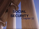 Lecture note Public finance (10th Edition) - Chapter 11: Social security