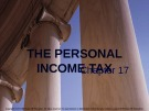 Lecture note Public finance (10th Edition) - Chapter 17: The personal income tax