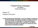 Lecture Programming languages (2/e): Chapter 18c - Tucker, Noonan