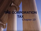 Lecture note Public finance (10th Edition) - Chapter 19: The corporation tax