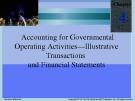 Lecture Accounting for Governmental & nonprofit entities (16/e): Chapter 4 - Jacqueline, Suzanne, Earl