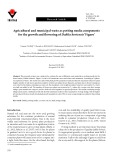 Agricultural and municipal waste as potting media components for the growth and flowering of Dahlia hortensis 'Figaro'