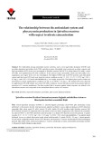 The relationship between the antioxidant system and phycocyanin production in Spirulina maxima with respect to nitrate concentration