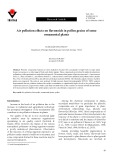 Air pollution effects on flavonoids in pollen grains of some ornamental plants