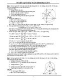 Tuyển tập 80 bài Hình học môn Toán lớp 9