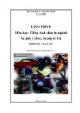 Giáo trình Môn học Tiếng Anh chuyên ngành - Nghề: Công nghệ ô tô