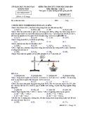 Đề kiểm tra HK1 môn Hóa học lớp 11 năm 2018-2019 - Sở GD&ĐT Quảng Nam - Mã đề 315