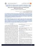 Ảnh hưởng của hàm lượng nano bạc trong quy trình nuôi cấy cây chuối già lùn (Musa nana lour) in vitro