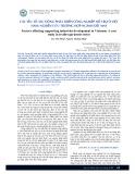 Các yếu tố tác động phát triển công nghiệp hỗ trợ ở Việt Nam: Nghiên cứu trường hợp ngành dệt may