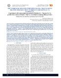 Thử nghiệm dự báo xói lở bờ sông Gianh –  Nhật Lệ bằng phương pháp bán thực nghiệm của Hickins E. J. và Nanson G. C.